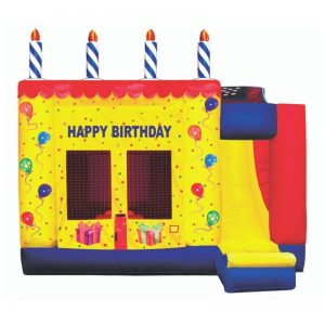 Birthday Combo Unit With Basketball Hoop & Slide (Dry Only)