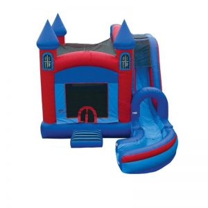 Blue & Red Castle Combo Unit With Bouncy And Slide