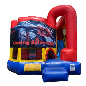 Amazing Spiderman Modular Arch Combo Unit With Bouncy And Slide