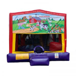 Farm Animals Combo Unit With Bouncy And Slide