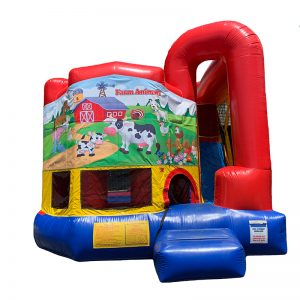 Farm Animals Modular Arch Combo Unit With Bouncy And Slide