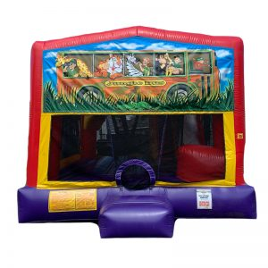 Jungle Bus Combo Unit With Bouncy And Slide