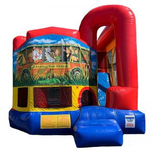 Jungle Bus Modular Arch Combo Unit With Bouncy And Slide
