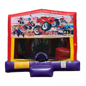 Monster Truck Combo Unit With Bouncy And Slide