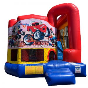 Monster Truck Modular Arch Combo Unit With Bouncy And Slide