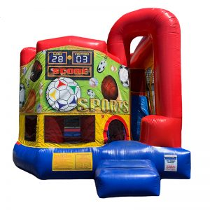 Sports Modular Arch Combo Unit With Bouncy And Slide